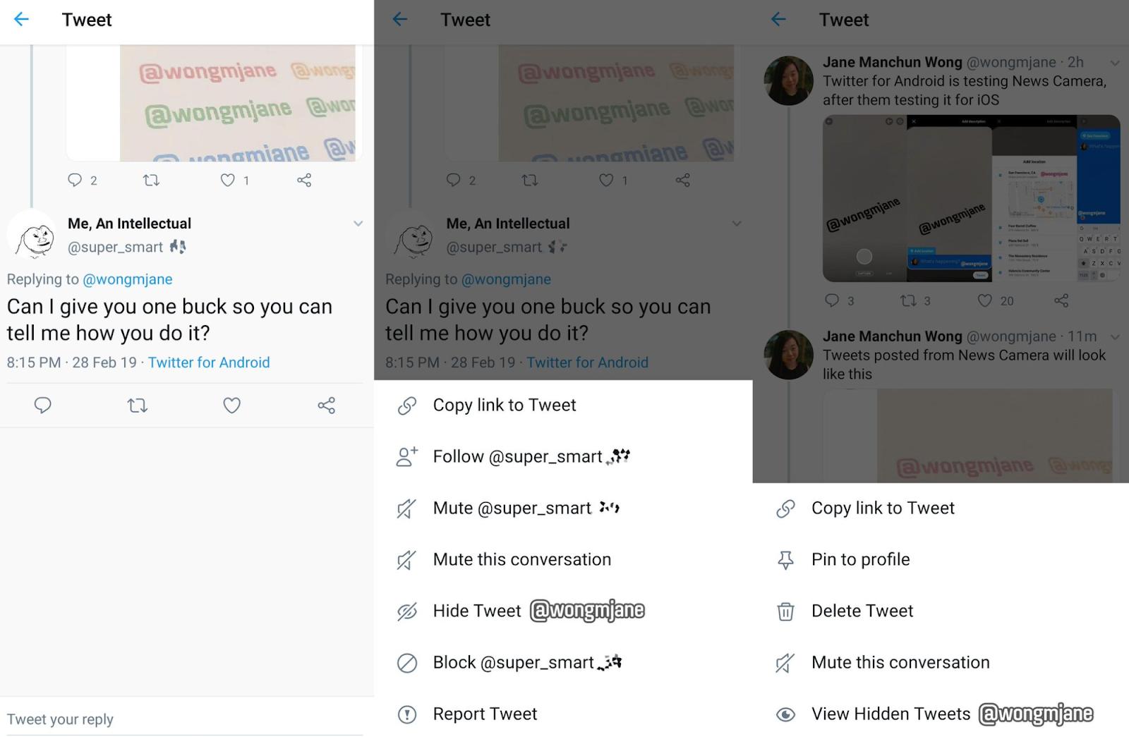 مخفی کردن پاسخ در توییتر