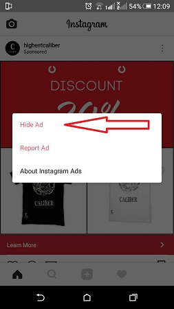 حذف تبلیغات اینستاگرام