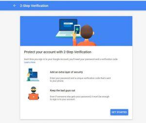 امنیت حساب گوگل