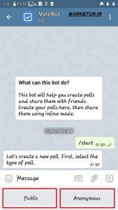 ساخت نظرسنجی تلگرام