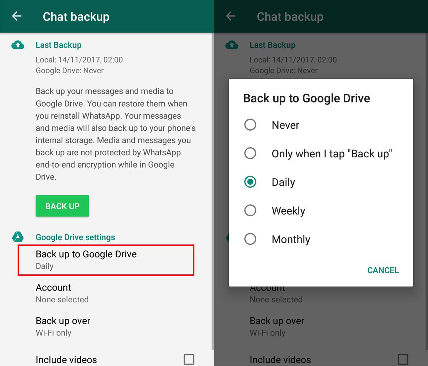 چگونگی آموزش حذف بکاپ برنامه واتس آپ از گوشی و Google Drive