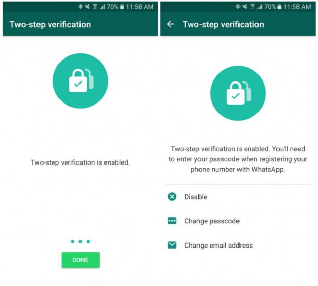 آموزش فعال کردن تایید هویت دو مرحله ای واتس آپ در گوشی های اندروید