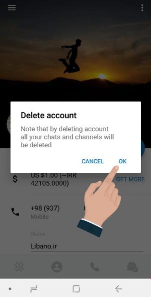 آموزش حذف اکانت (delete account) در پیام رسان ویسپی