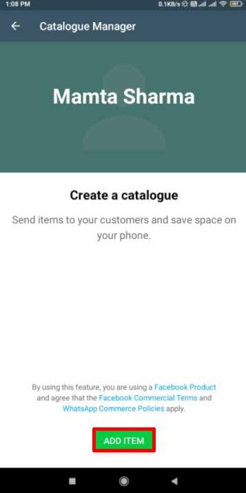 واتساپ :چگونگی ساخت کاتالوگ در واتساپ بیزینس اندروید جهت معرفی خدمات و محصولات