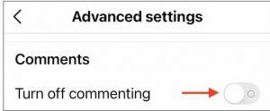 اینستاگرام : روش های غیر فعال کردن کامنت قبل و بعد از انتشار پست