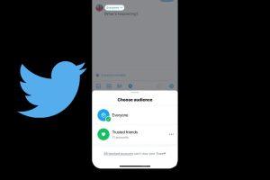 توییتر :توییتر در حال آزمایش محدود کردن توییت دوستان قابل اعتماد است.