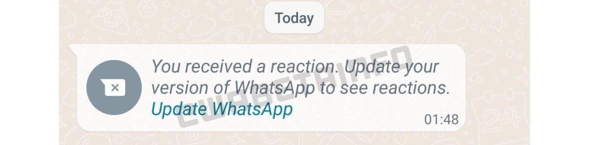 واتساپ :اضافه شدن قابلیت ارائه واکنش به پیام در آینده به واتساپ