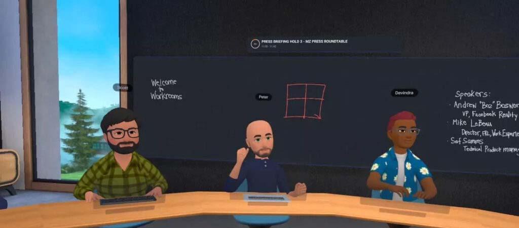 فیسبوک :دفتر کار مجازی فیسبوک جایگزین جلسات حضوری می شود.